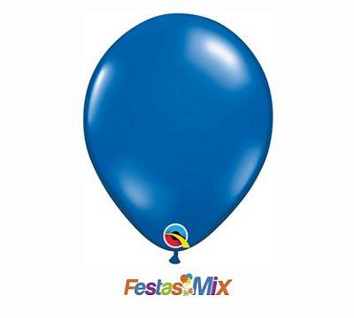 Balão Látex 11 Polegadas - Azul Safira - 05 unidades