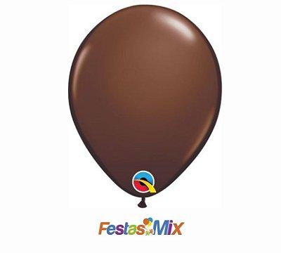 Balão Látex 5 Polegadas - Marrom Chocolate - 05 unidades