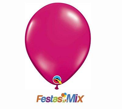 Balão Látex 11 Polegadas - Magenta Jóia - 05 unidades