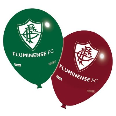 Balão Látex 9 Polegadas - Fluminense - 25 unidades
