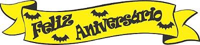 Faixa Feliz Aniversário EVA - Morcego
