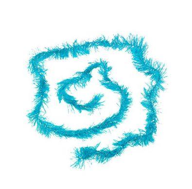Marabu Sintético com Fios Cintilantes - Azul Claro