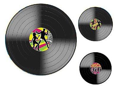 Painel Disco de Vinil - 03 unidades