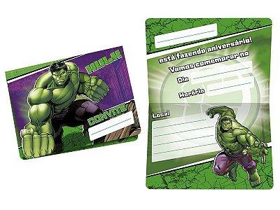 Convite - Hulk Animação - 08 unidades