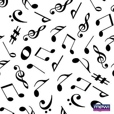 TNT Estampado Notas Musicais - 05 Metros
