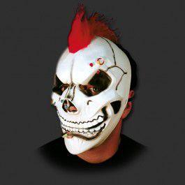 Máscara latéx Halloween - Caveira Punk com Elástico