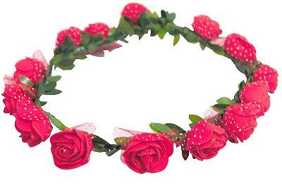 Coroa de Flores - Vermelha
