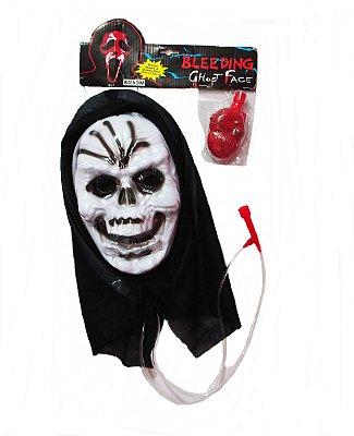Máscara Pânico com Esguicho de Sangue - Modelo 1