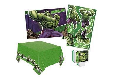 Kit Decoração de Festa - Hulk