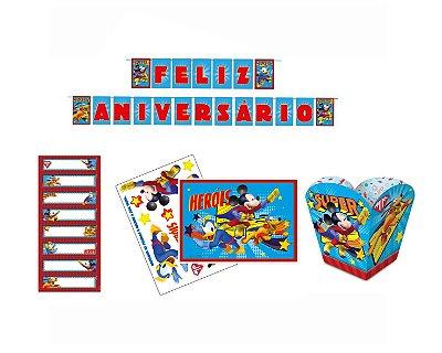 Kit Decoração de Festa - Mickey Super Herói