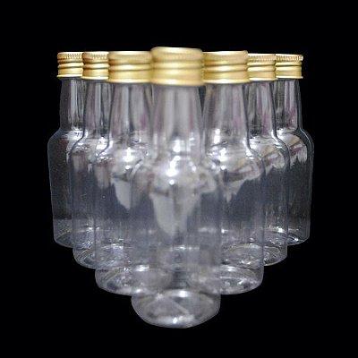 Garrafa 50 ml Metalizada - Dourado - 10 unidades