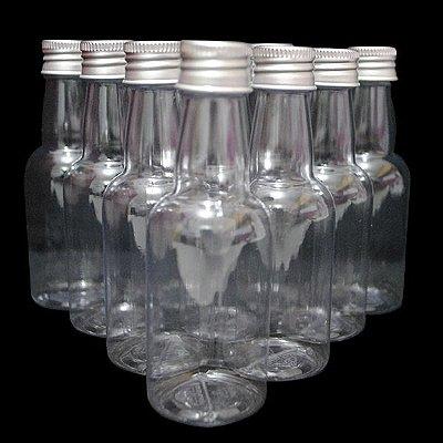 Garrafa 50 ml Metalizada - Prata - 10 unidades