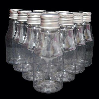 Garrafa 30 ml Metalizada - Prata - 10 unidades