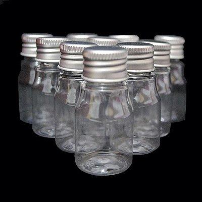 Garrafa 10 ml Metalizada - Prata - 10 unidades
