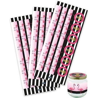Adesivo Para Lembrancinhas - Flamingo - 03 cartelas