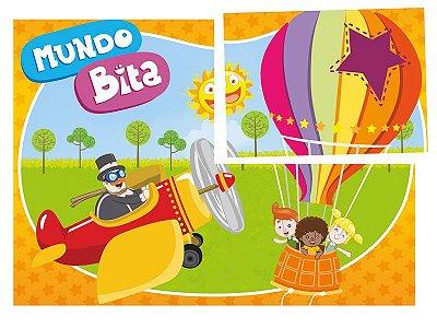 Painel para Decoração de Festa Infantil Mundo Bita