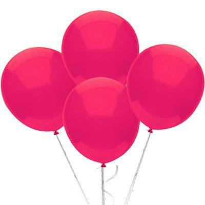 Balão Látex 9 Polegadas - Fúcsia - 50 unidades