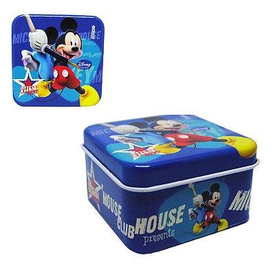 Latinha Quadrada Metal - Mickey Mouse