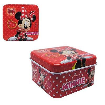 Latinha Quadrada Metal - Minnie Mouse