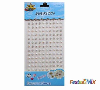 Cartela Adesivos Decorativos  - Pérola Branco 6
