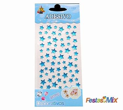Cartela Adesivos  - Estrela Azul