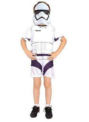 Fantasia Star Wars - StormTrooper Clássica Curta - P