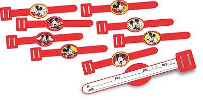 Convite Pulseirinha Vip - Mickey Mouse - 08 unidades