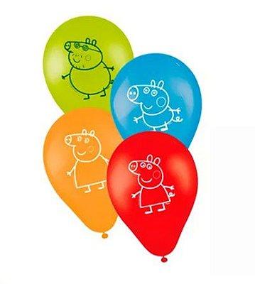 Balão Látex 9 polegadas - Peppa Pig - 25 unidades