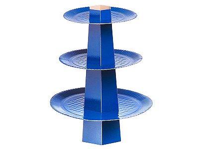 Baleiro 3 Andares - Festa Colors Azul Escuro