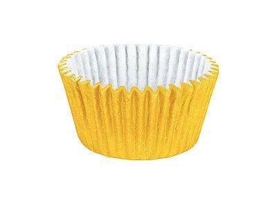 Mini Forminha para Cupcake - Festa Colors Amarelo - 45 unidades