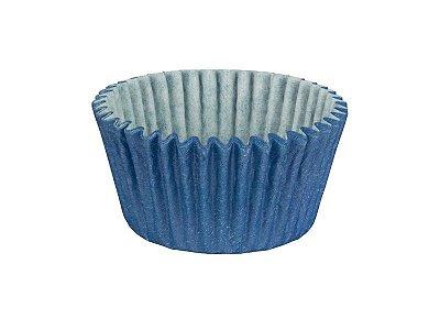Mini Forminha para Cupcake - Festa Colors Azul - 45 unidades