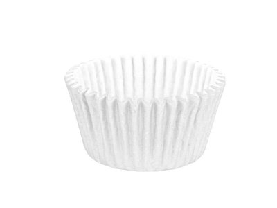 Mini Forminha para Cupcake - Festa Colors Branco - 45 unidades