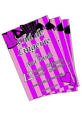 Convite Personalizado - Chá de Lingerie - 08 unidades
