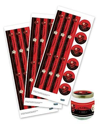 Adesivo para Lembrança - Flamengo - 36 unidades