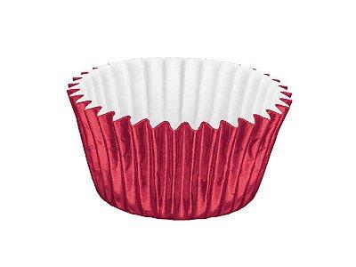Forminha Nº 6 - Metalizada Vermelho - 50 unidades