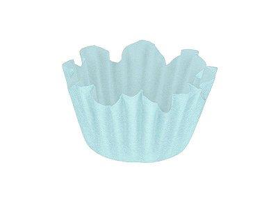 Forminha Nº 6 - Flor Azul Claro - 100 unidades
