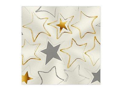 Saco Transparente para Presente - Estrelas - 50 und
