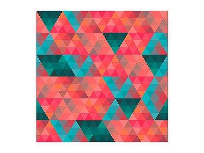Saco Metalizado para Presente - Triângulos - 50 unidades