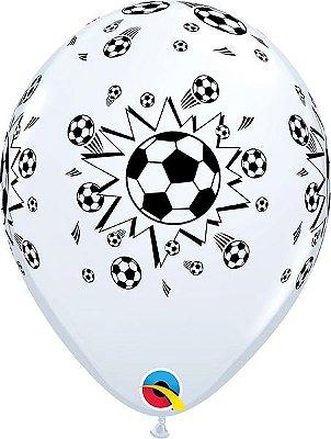 Balão Látex 11 Polegadas - Bola de Futebol - 05 unidades