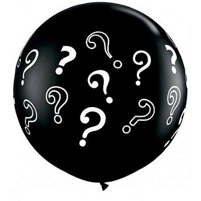 Balão Látex 76 cm Redondo Premium - Chá Revelação