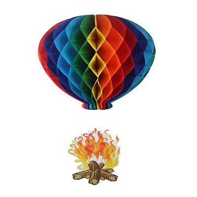 Balão Colorido - Fogueira