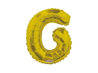 Balão Metalizado 22 cm - Dourado - Letra G