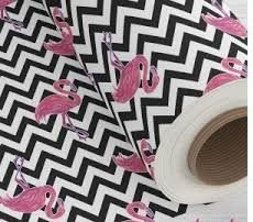 TNT Estampado - Flamingo Chevron- 05 Metros
