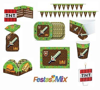 Kit Festa 24 Pessoas - Mini Pixels