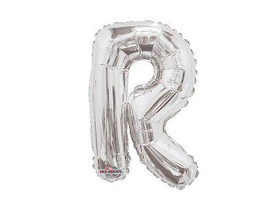 Balão Metalizada 22 cm - Prateada - Letra R