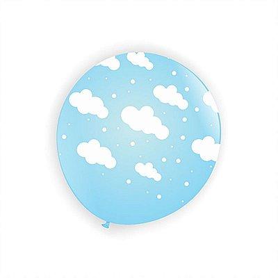 Balão Nuvem - Azul Claro - Art Latex - 25 unidades