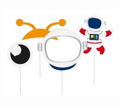Plaquinhas acessórios - Astronauta - 08 unidades