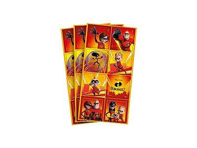 Adesivo Quadrado - Os incríveis - 03 cartelas