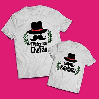 Kit Camisa O Poderoso Chefão e Chefinho