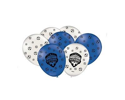 Balão Especial 9 polegadas - Apaixonados por Futebol - 25 und